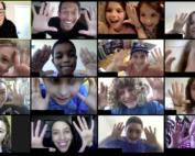 Kids on a Zoom Call
