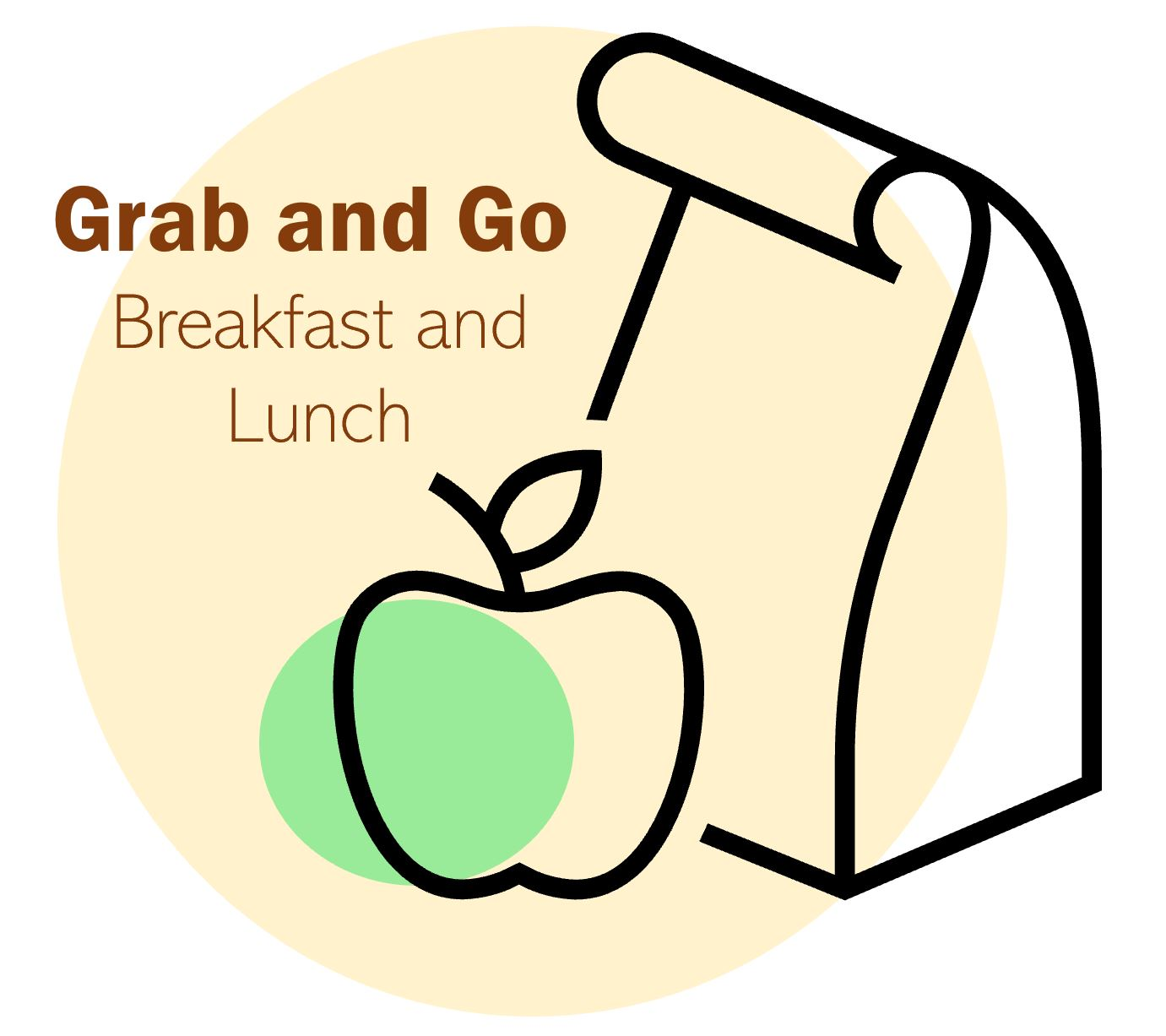 This image will serve as a reminder of grab and go breakfast and lunch